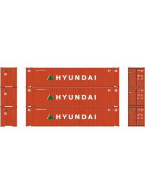 athearn 28860 hyundai 45' container 3pk