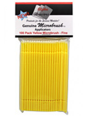alpha abrasives 1351 microbrushes,yellow 100pk