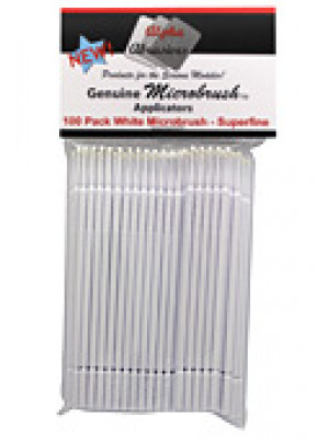 alpha abrasivs 1353 microbrshes,white,spr fine 100