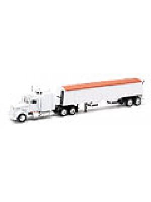 b2b new-ray 15833 kenworth w/grain hauler