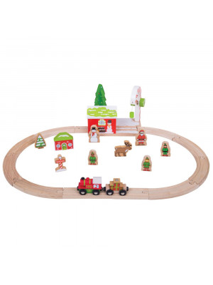 bigjigs bjt066 winter wonderland train set