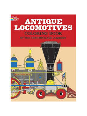 antique locomotives coloring book