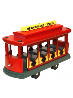 holgate toys 6161 mr rogers classic trolley