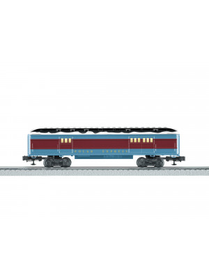 lionel 84605 polar exp. baggage car w/snow