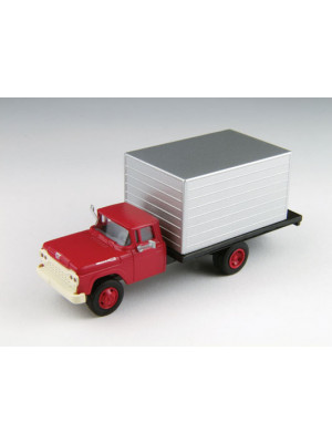 classic metal works 30476 red cab box truck