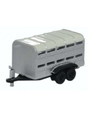 oxford nfarm001 livestock trailer gray/white