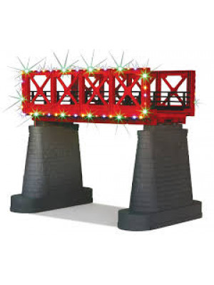 railking 1116 girder bridge w/xmas lights