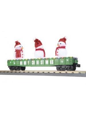 railking 72211 snowman green gondola w/leds