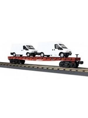 railking 76676 bnsf flat w/vans