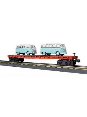 railking 76677 sp flat w/vw buses