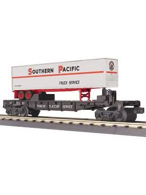 railking 76738 sp flatcar w/40' trailer