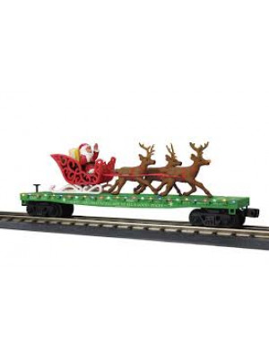 railking 76741 xmas flt w/leds & santa sleigh