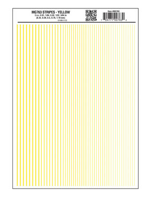 woodland scenics 763 yellow stripes