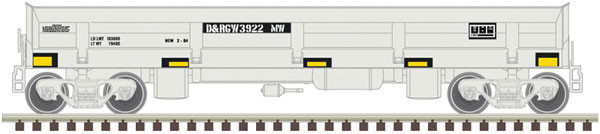 atlas 50004587 drgw difco side dump car 3911