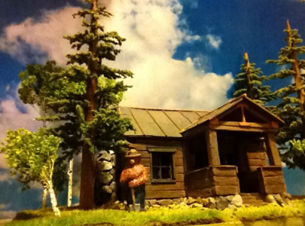 grand central gems ho smokey bear with cabin scene