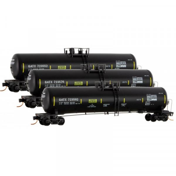 micro-trains 99300154 gatx tank car 3pk