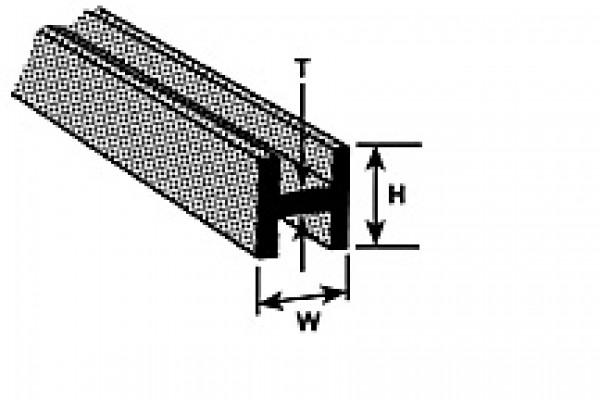 "plastruct 90065 1/4"" h column"
