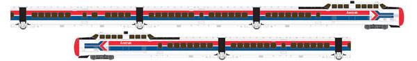 rapido 520504 amtrak turbotrain dcc/snd 5pk