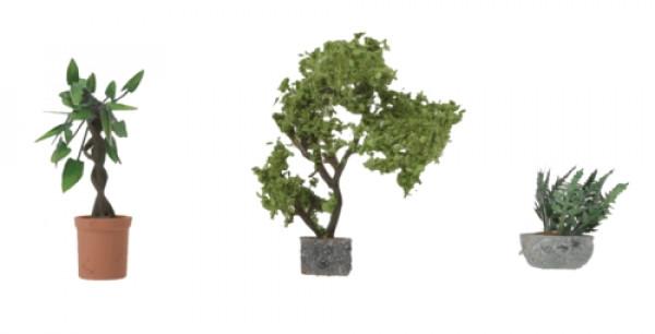 walthers 949-1088 large decorative plants 3pk