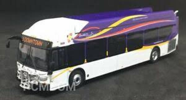 iconic replicas 87-0157 glendale bus w/bike rack