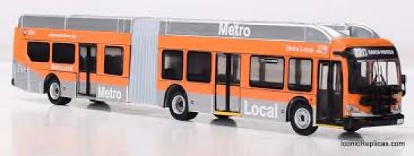 iconic replicas 870163 la metro articulated bus