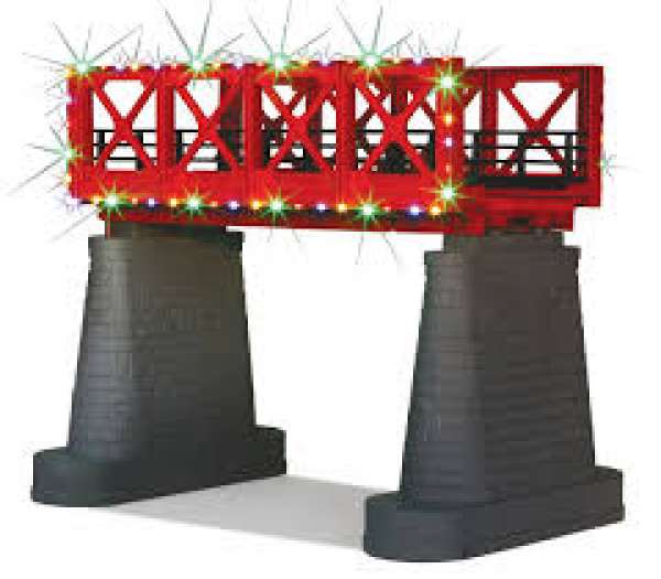 railking 1116 girder bridge w/xmas lights